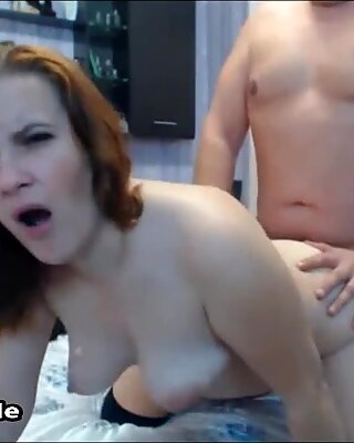 Milking My Cock Until I Cum On Her Big Juicy Natural Tits
