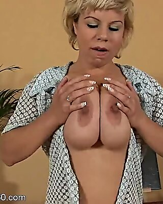 Mature Lady With Big Tits In Solo Action - Silvy Vee