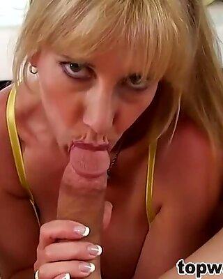 Kinky Mom Blows her daugthers boyfriend
