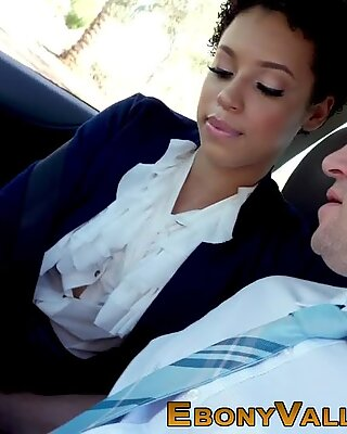 Black student sucking and riding