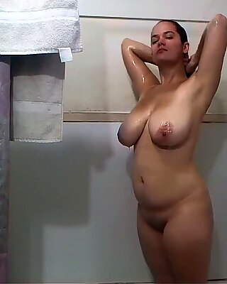 Miss Nat in the Shower