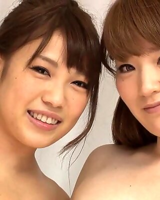 Two Asian Chicks In Action