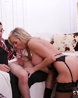 Fucked sleeping step mom xxx Halloween Special With A Threesome - Kenzie Reeves