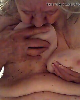 Granny Sucking Tits