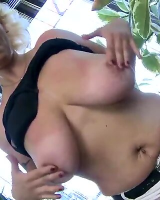 Hot MILF with big saggy tits and hungry vagina