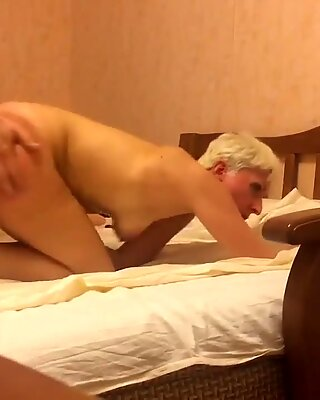Hardcore fucking Russian short hair mature mom